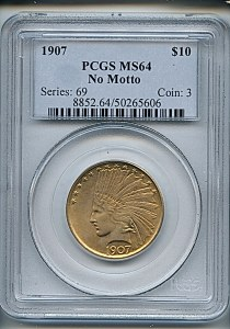 Princess Eagle, $10, 1907 - , 8852, Obverse