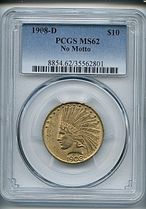 Princess Eagle, $10, 1908 - D, 8854, Obverse