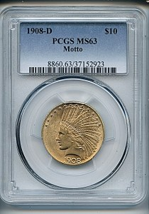 Princess Eagle, $10, 1908 - D, 8860, Obverse