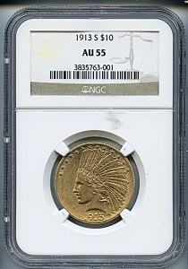 Princess Eagle, $10, 1913 - S, 8874, Obverse