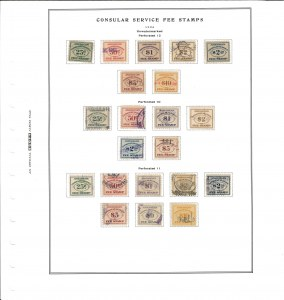 Consular Service Fee Stamps