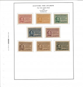 Customs Fee Stamps
