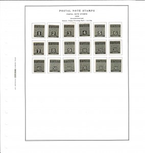 Postal Note Stamps