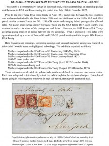 Transatlantic Packet Mail Between the U.S.A. and France: 1840-1875