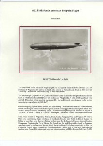 The 1932 and 1933 Fifth South America Zeppelin Flights