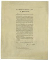 A copy of the Emancipation ProclamationSigned by Abraham LincolnSold for $2,085,000
