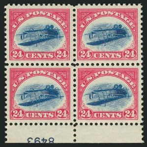 "Unique Inverted ""Jenny"" Plate BlockSold by our firm in 2005Realized $2,970,000A World-Record Pricefor a U.S. Philatelic Item"