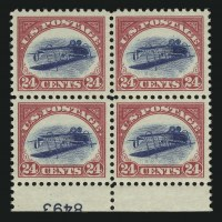 Inverted Jenny plate block