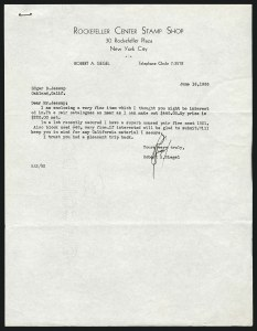 Letter from Robert Siegel to Edgar Jessup