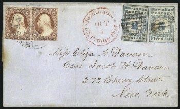 The Dawson Cover with a 2c Hawaiian Missionary stamp