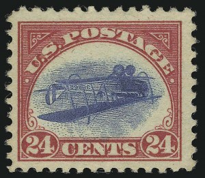 The first Inverted Jenny sold by Siegel at auction Position 84