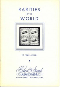 The first Rarities of the World sale held by Siegel on February 27, 1964