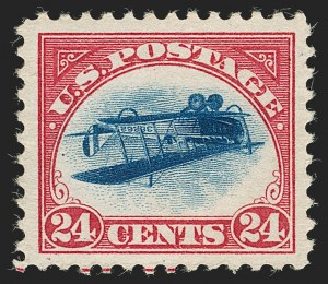1918 24-cent Inverted JennySold November 15, 2018 for $1,593,000World-record price for an Inverted JennyWorld-Record Price for a 20th Century stamp
