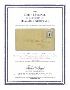 The Keith J. Steiner Collectionof Hawaiian NumeralsSold June 28, 2017Commentary byScott R. Trepel