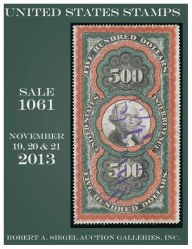 Catalog for Sale 1061 — Siegel Auction Galleries
