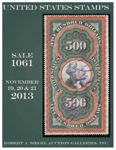 Catalog Cover Sale no. 1061 — Siegel Auction Galleries