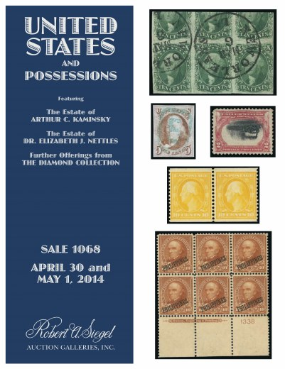 Catalog Cover Sale no. 1068 — Siegel Auction Galleries