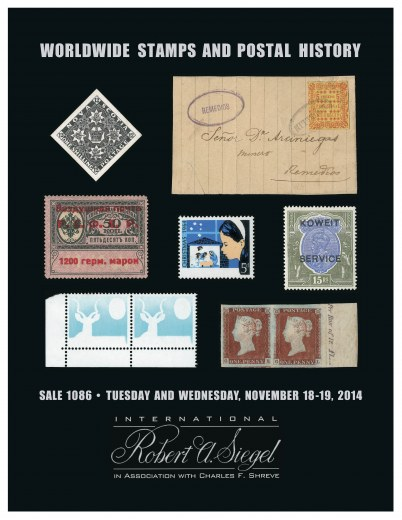 Catalog Cover Sale no. 1086 — Siegel Auction Galleries