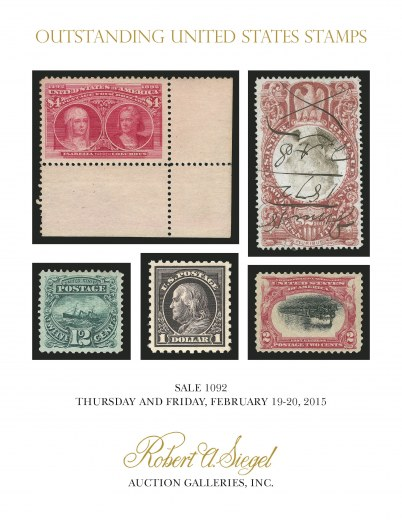 Catalog Cover Sale no. 1092 — Siegel Auction Galleries