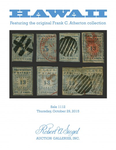 Catalog Cover Sale no. 1112 — Siegel Auction Galleries