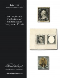 Catalog for Sale 1113 — Siegel Auction Galleries