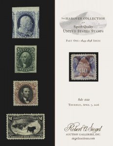 The Hanover Collection of Superb-Quality U.S. Stamps-Part One
