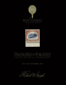 U.S. Treasures of Philately from The Irwin Weinberg Inventory