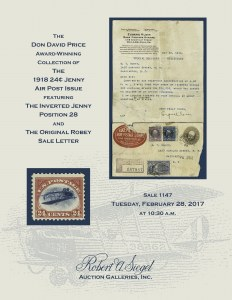 The Don David Price Collection of the U.S. 1918 24c Jenny Air Post Issue