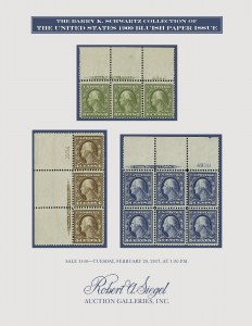 The Barry K. Schwartz Collection of The U.S. 1909 Bluish Paper Issue