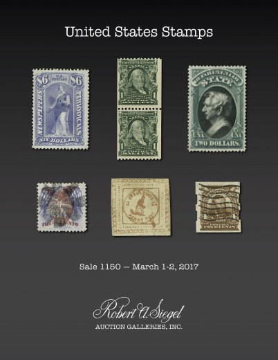 Catalog Cover Sale no. 1150 — Siegel Auction Galleries