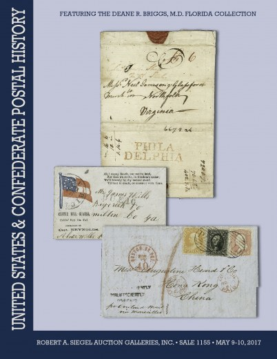 Catalog Cover Sale no. 1155 — Siegel Auction Galleries