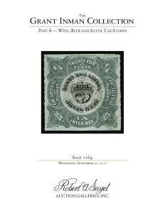 The Grant Inman Collection, Part 6: Wine, Beer and Silver Tax Stamps