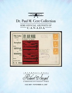 The Dr. Paul M. Cere Collection of Semi-Official Air Posts of Canada