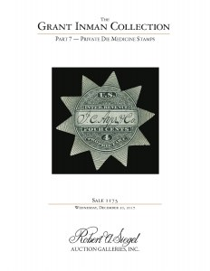 The Grant Inman Collection, Part 7: Private Die Medicine Stamps