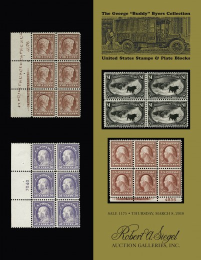 Catalog Cover Sale no. 1175 — Siegel Auction Galleries