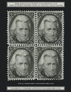 The Bernard Faust Collection of U.S. 1863-68 Black Jack Issues