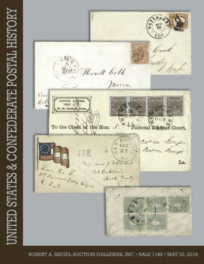 Catalog Cover Sale no. 1182 — Siegel Auction Galleries