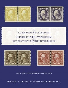 The James Depew Collection of Superb U.S. Coils and 20th Century Imperforate Issues