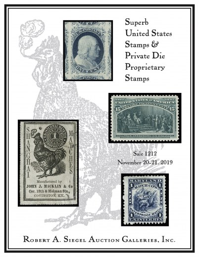 Catalog Cover Sale no. 1212 — Siegel Auction Galleries