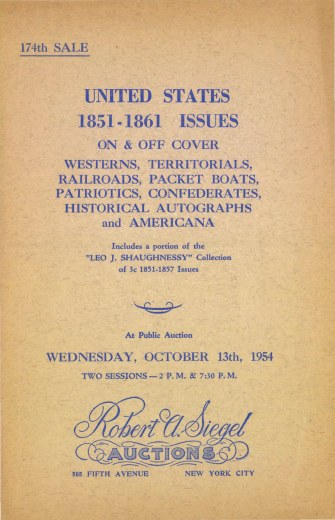 Catalog Cover Sale no. 174 — Siegel Auction Galleries
