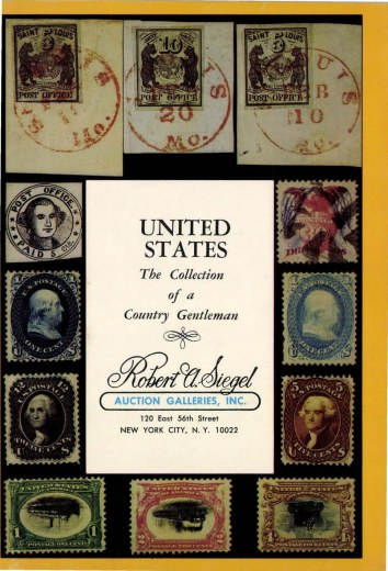 Catalog Cover Sale no. 422 — Siegel Auction Galleries