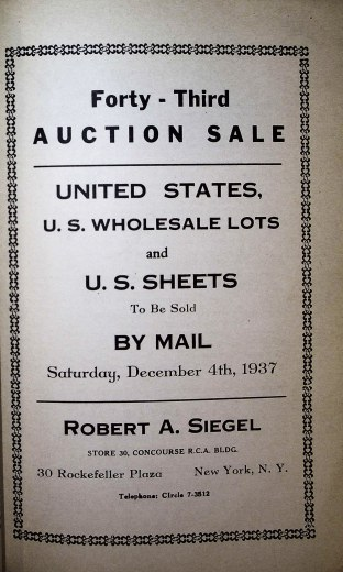Catalog Cover Sale no. 43 — Siegel Auction Galleries