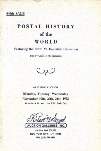 Catalog Cover Sale no. 440 — Siegel Auction Galleries