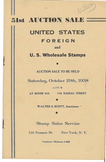 Catalog Cover Sale no. 51 — Siegel Auction Galleries