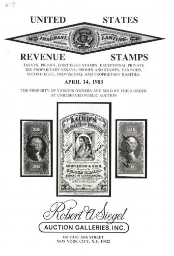 Catalog Cover Sale no. 617 — Siegel Auction Galleries