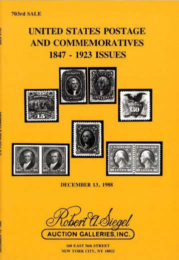 Catalog Cover Sale no. 703 — Siegel Auction Galleries