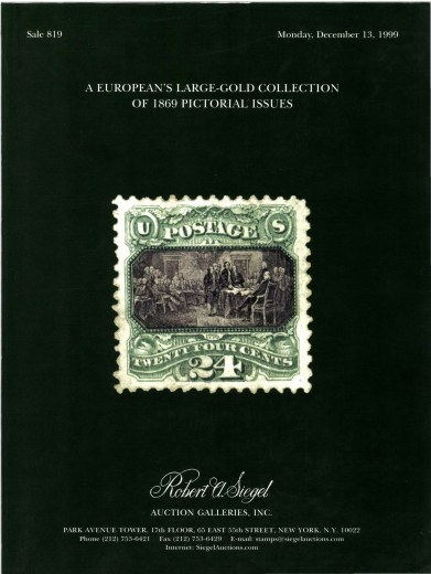 Catalog Cover Sale no. 819 — Siegel Auction Galleries