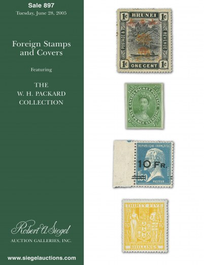 Catalog Cover Sale no. 897 — Siegel Auction Galleries