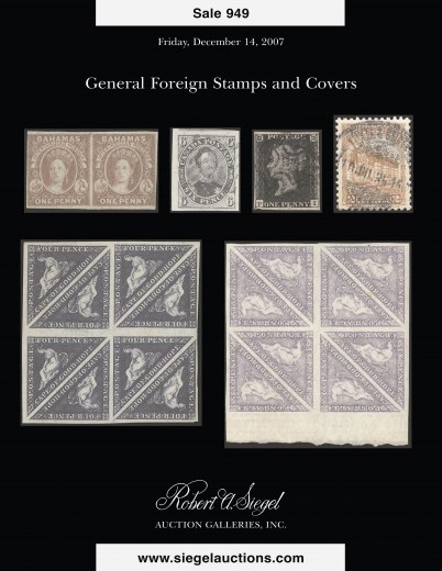 Catalog Cover Sale no. 949 — Siegel Auction Galleries