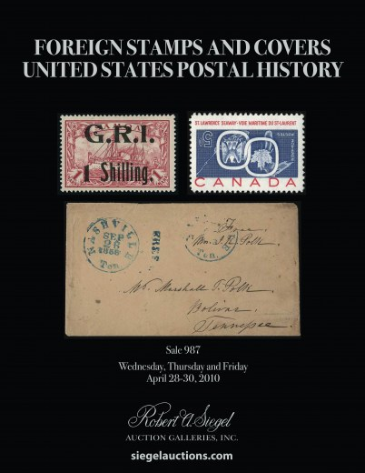 Catalog Cover Sale no. 987 — Siegel Auction Galleries